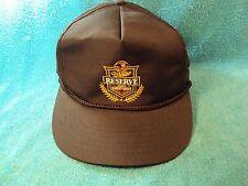 Vtg Black MILLER RESERVE 100% Barley DRAFT Beer Baseball Truckers Style Cap Hat