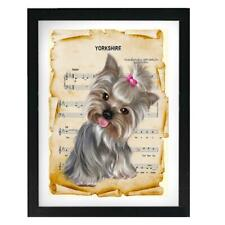 Yorkshire Terrier Yorkshire Sheet Music Art Print Color Print Wall Decor Gift