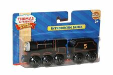 INTRODUCING ORIGINAL JAMES Thomas Tank Engine Wooden Railway NEW IN BOX 70TH ANN