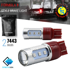 7443 LED Strobe Flashing Blinking Brake Tail Light/Parking Safety Warning Bulbs