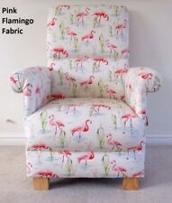 Pink Flamingo Fabric Child's Chair Kid's Armchair Nursery Birds Bedroom Pretty