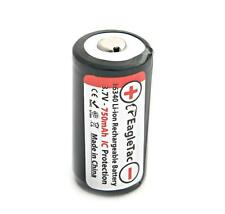 Eagletac 16340 RCR123A 3.7V Protected Rechargeable Li-ion Battery [ D25C TX25C ]