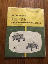 Factory Sealed John Deere 110,112 Tractors Operator's Manual OMM44260