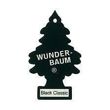 2xpcs Wunderbaum Magic tree car air freshener BLACK CLASSIC