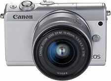 Canon EOS M100 Mirrorless Digital Camera - White with 15-45mm Lens