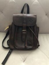 NWT PATRICIA NASH DISTRESSED VINTAGE LEATHER ABERDEEN BACKPACK CHOCOLATE BROWN