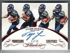 2015 Flawless TYLER LOCKETT Progressions Signatures Rookie Auto Seahawks /15
