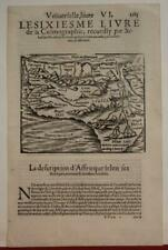 AFRICA 1555 SEBASTIAN MÜNSTER UNUSUAL ANTIQUE ORIGINAL WOODCUT MAP