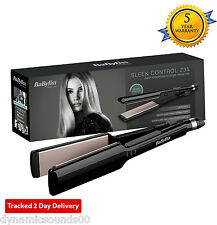 BaByliss 2179U Nano Ceramic 235 Travel Hair Straightener with Heat Mat