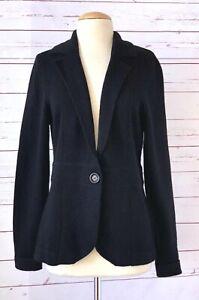 NWT $325 NEIMAN MARCUS Size L 100% Cashmere Knit Jacket Black Blazer