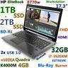 # Workstation HP 8770W i7-EXTREME Blu-Ray Burner 3TB SSD 32GB Quadro K4000M-4GB