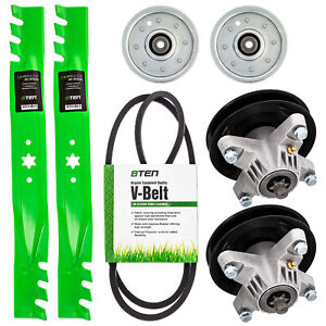 Deck Rebuild Kit Blade Spindle Belt Idler for MTD Yard Man 13AT604G701 42 Inch