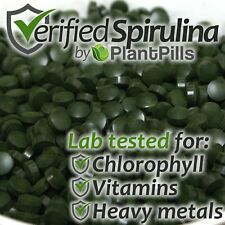 1kg PlantPills 100% Spirulina Tablets (5000x 200mg tablets) High Quality