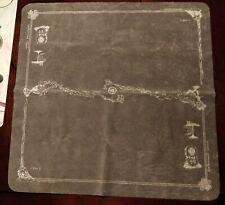 SpellGround Classic (Gray w/ White) 2-Player Playmat (Khalsa Brain Games)