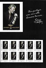 JOHNNY HALLYDAY COLLECTOR TOUR 66 DE 10 TIMBRES 20 G + PHOTO AUTOCOLANT NEUF