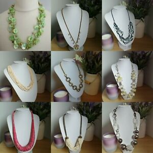 Necklace Bundle 9 Mixed Necklaces Beaded Costume Statement Boho Resell Wear
