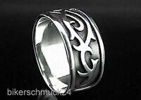 Bikerring aus 925 Silber Bandring keltisches Dornen Tribal Herren Geschenk Biker