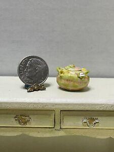 Vintage Artisan Lidded Staffordshire Soup Tureen Dish Dollhouse Miniature 1:12