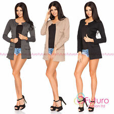 Hip Length Blazers Plus Size Coats & Jackets for Women