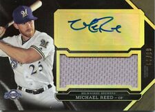MICHAEL REED 2016 TRIPLE THREADS GAME-USED MATERIAL AUTOGRAPH 65/99 BREWERS