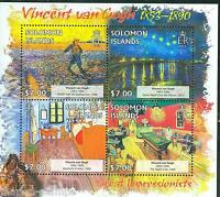 SOLOMON ISLANDS 2013 GREAT IMPRESSIONISTS  VINCENT VAN GOGH  SHEET MINT NH