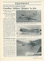 1953 Aviation Article Canadian Airlines History Canada Airplanes TCA CPA