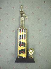 male Basketball trophy wide theme column black base ball trim