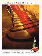 PUBLICITE ADVERTISING 024   1992   MUMM   champagne CORDON ROUGE