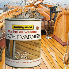 SUPPLYSHED Marine Boat Yacht Varnish Clear Gloss 750ml