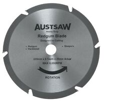 9 1/4 (235mm) Austsaw Sleeper Blade Circular Saw Blade REDGUM HARDWOOD DIY
