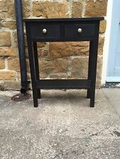 BESPOKE H70 W60 D25cm CONSOLE HALL TELEPHONE BEDROOM TABLE DRAWERS BLACK