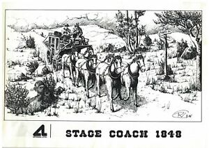 1985 ARTESANIA LATINA STAGE COACH 1848 WOOD MODEL KIT DIRECTIONS BOOKLET PICS