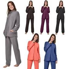 Damen Hausanzug Micro Fleece Anzug Sportanzug Freizeitanzug Trainingsanzug