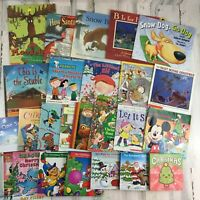 Lot 25 Days of Christmas Holiday Winter Picture Kids Books Board Santa Mooseltoe