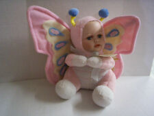 """Bitsy Butterfly Doll By Showshoppers, Porcelain Face, Pink, 9"""", Brand New"""