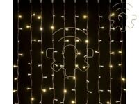 Tenda a pioggia 180 luci di Natale a led giallo bianco caldo 200X100 cm per este