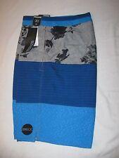 O´Neill Impression Boardshorts Size 30 Blue/Gray NWT