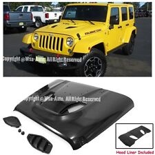 For 07-15 Jeep Wrangler JK Rubicon 10th Anniversary Hard Rock Style Metal Hood