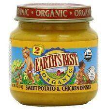 Earth's Best Organic Baby Food Stage 2 Sweet Potato & Chicken Dinner 4 Oz