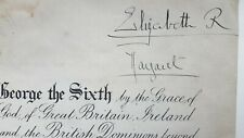 Queen Elizabeth II Mother Princess Margaret Signed Autograph Pardon King George