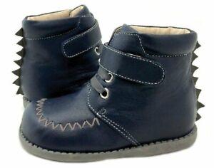 NIB LIVIE & LUCA Shoes Boots Rex Navy Blue 4 toddler