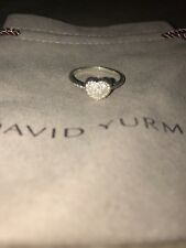 David Yurman Peite Pave Heart Ring with Diamonds size 7