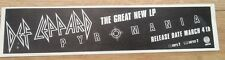 DEF LEPPARD Pyromania UK magazine ADVERT/Poster/clipping 12x3 inches