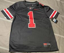Ohio State Nike Blackout #1 Football Jersey Sz M New Justin Fields