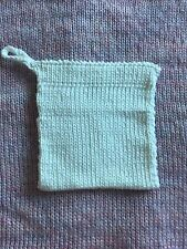 White Thick Cotton Dishcloth Washcloth Facecloth Handmade Knitted
