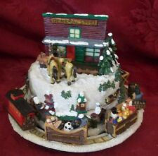 Christmas General Store Music Box with train going around