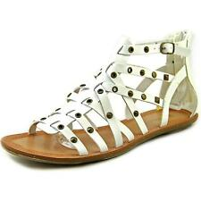 Zip Flat (0 to 1/2 in) Synthetic Sandals for Women