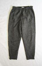 Aritzia BABATON Wool Blend Tweed Cropped Cuffed Jogger Pants in Dark Gray Sze XS