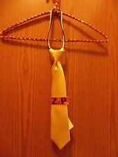 """Van Heusen Boys Zip Tie Yellow 13"""" long Brand New"""