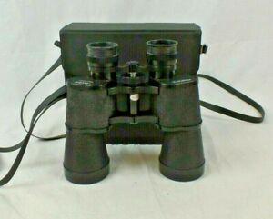 Prismatic 10 x 50 Binoculars in carry case.